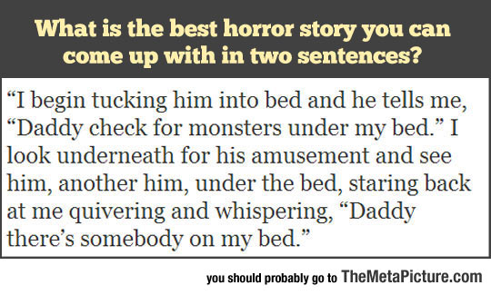 The Best Horror Story In Two Sentences