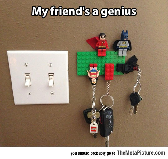 Clever Lego Key Holder
