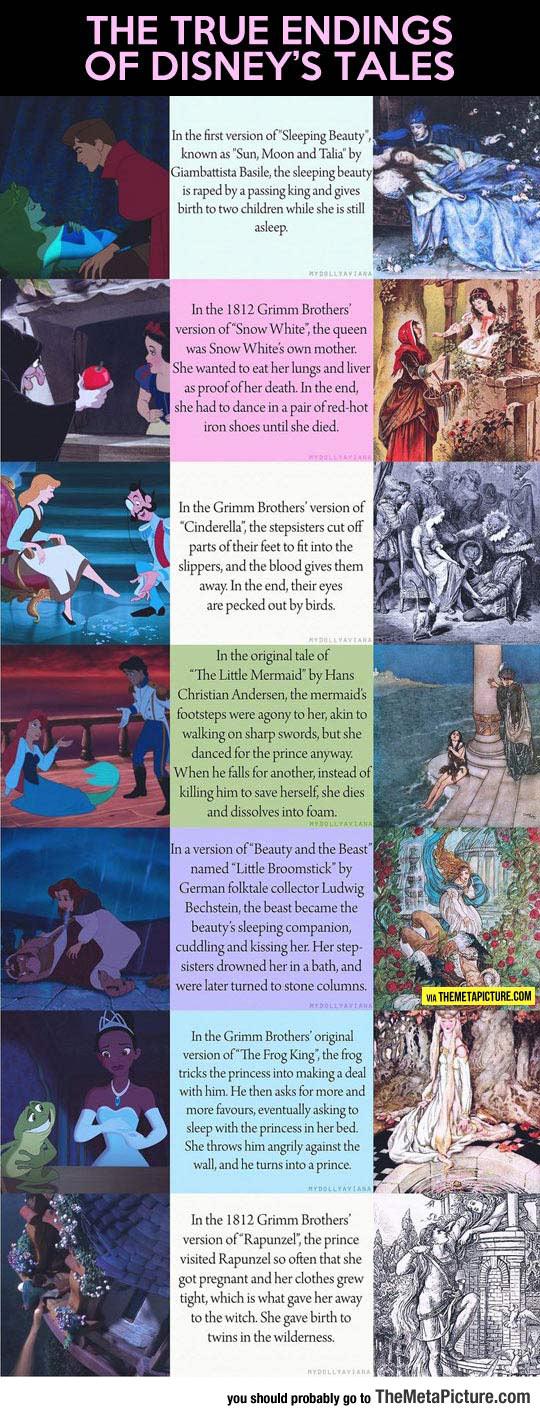 The Real Endings Of Disney