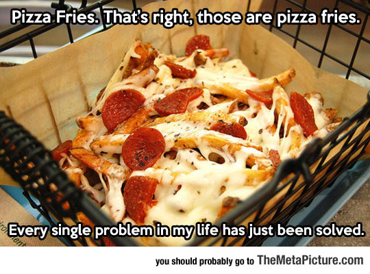 Those Are Pizza Fries