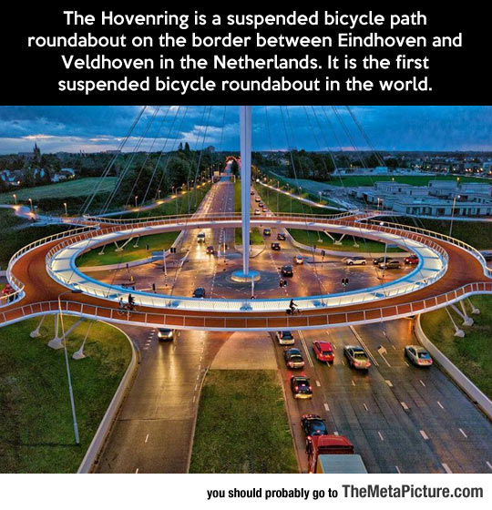 The First Suspended Bicycle Roundabout In The World