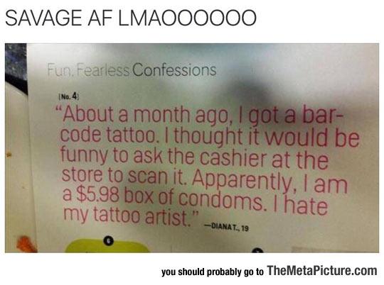 Bar Code Tattoo