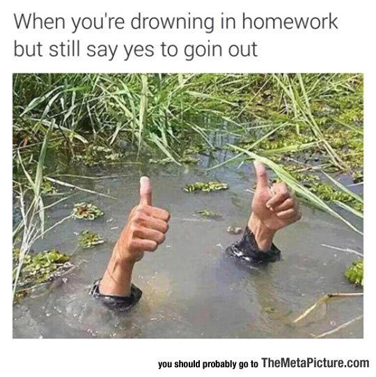 Drowning In Homework
