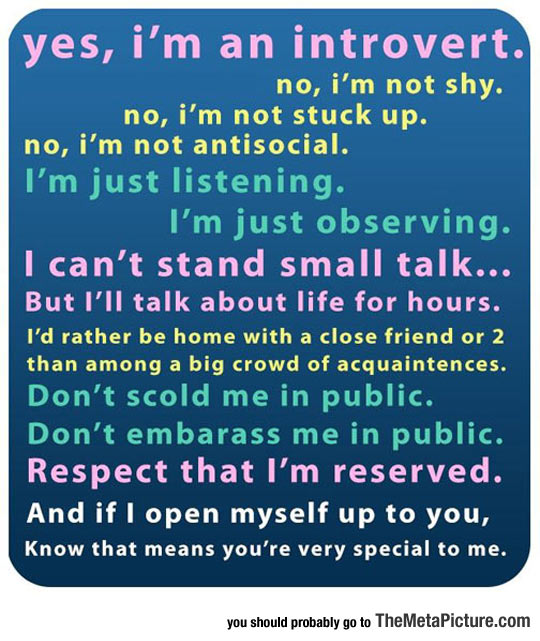Introvert Individuals