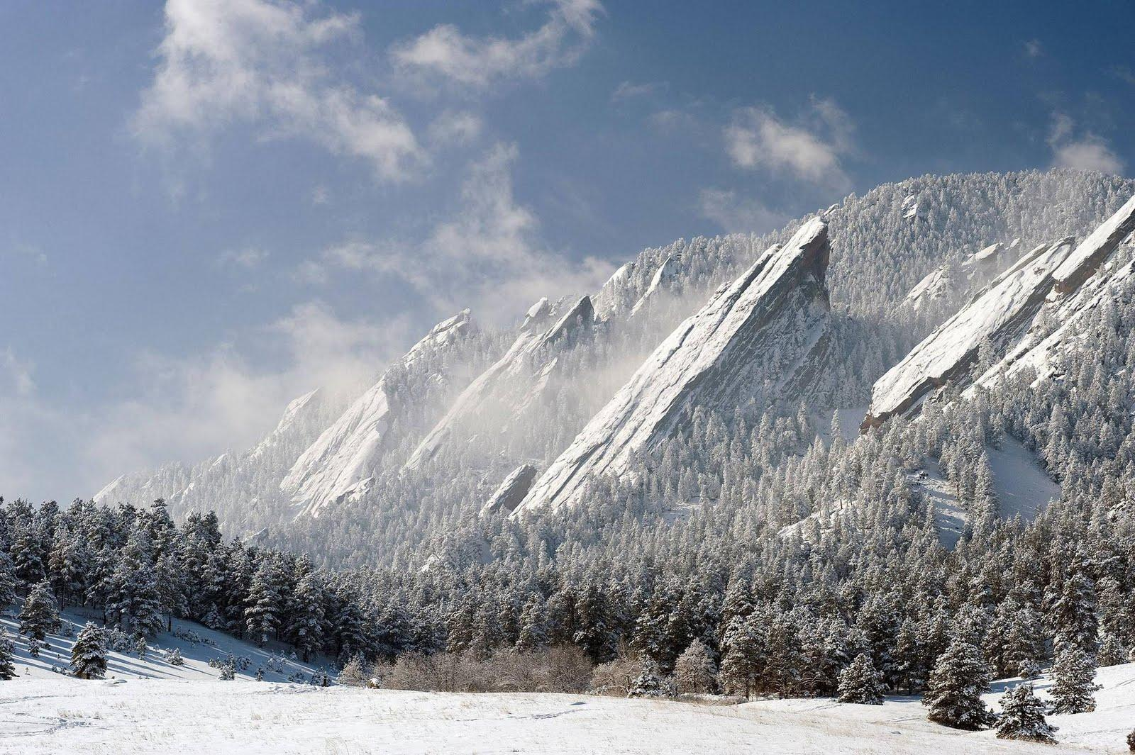 A crisp winter morning at the Flatirons in Boulder, CO