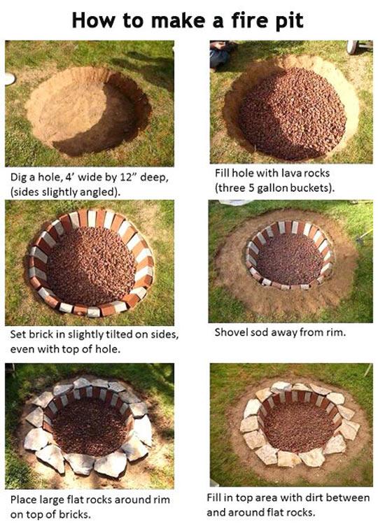 DIY-fire-pit-DIY-rocks-garden
