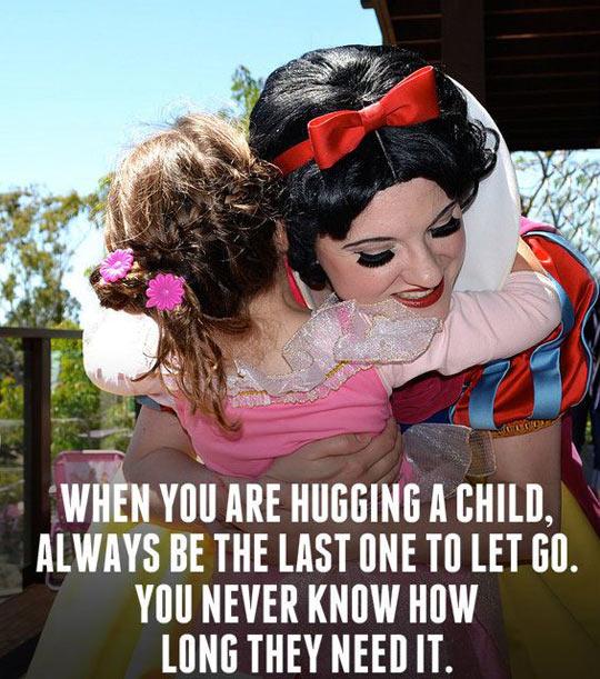 Hugging A Child