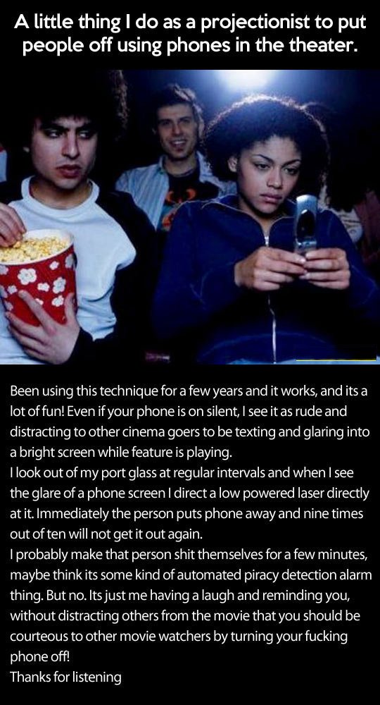 Make People Stop Using Their Phone In The Theater