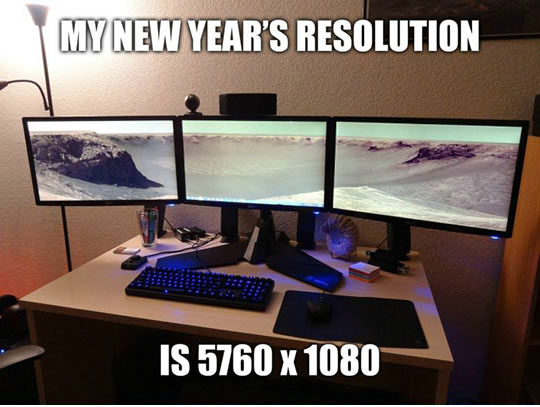 New year resolution…