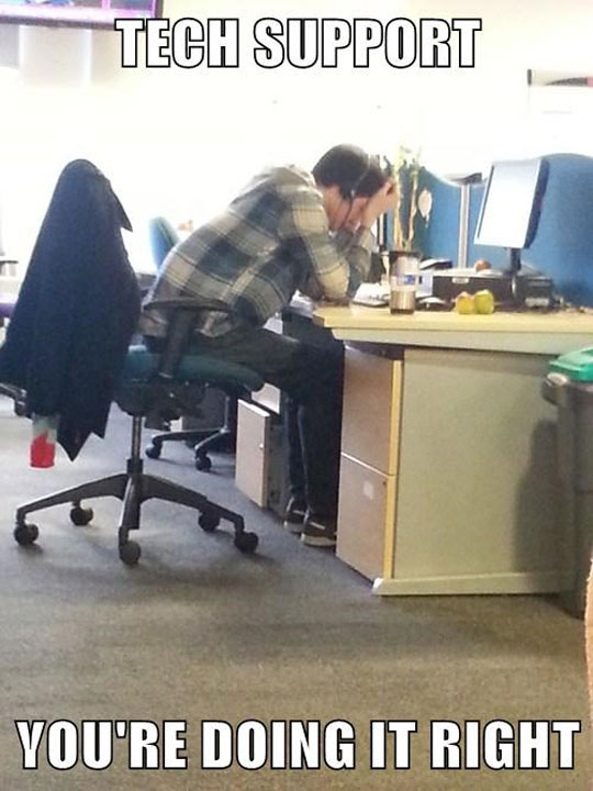 Saw My Co-Worker Like This On A Call For Over An Hour