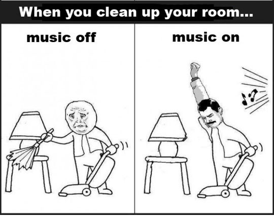 When you clean up your room…