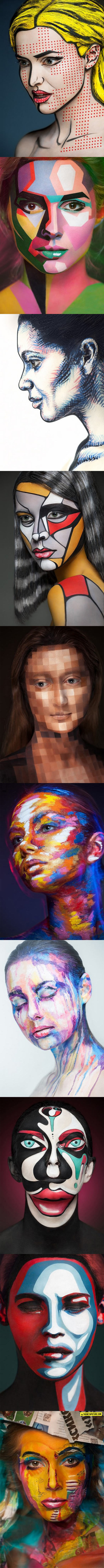 Faces Used As A Canvas