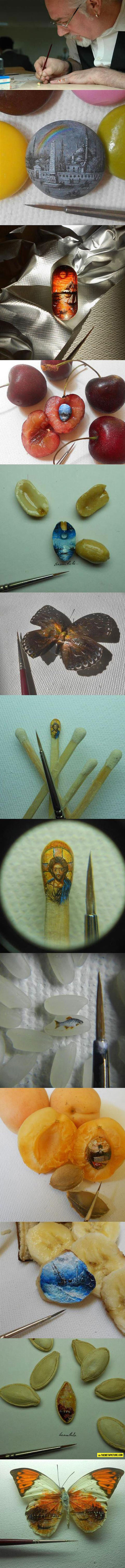 art-miniature-painter-artist-brush-butterfly