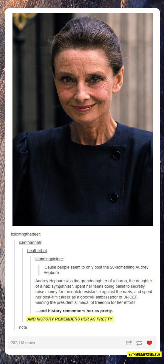Audrey Hepburn As An Old Woman