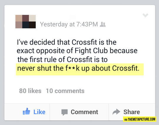 First Rule Of Crossfit
