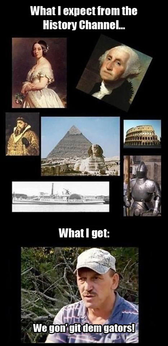 The History Channel These Days