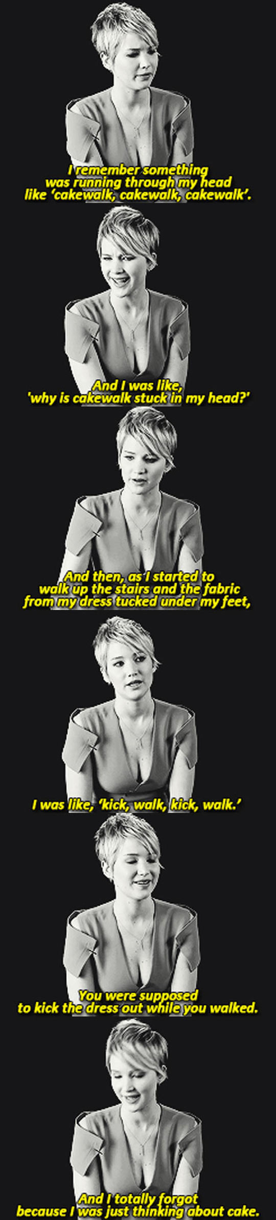 Jennifer Lawrence Talks About Her Famous Fall At The Oscars