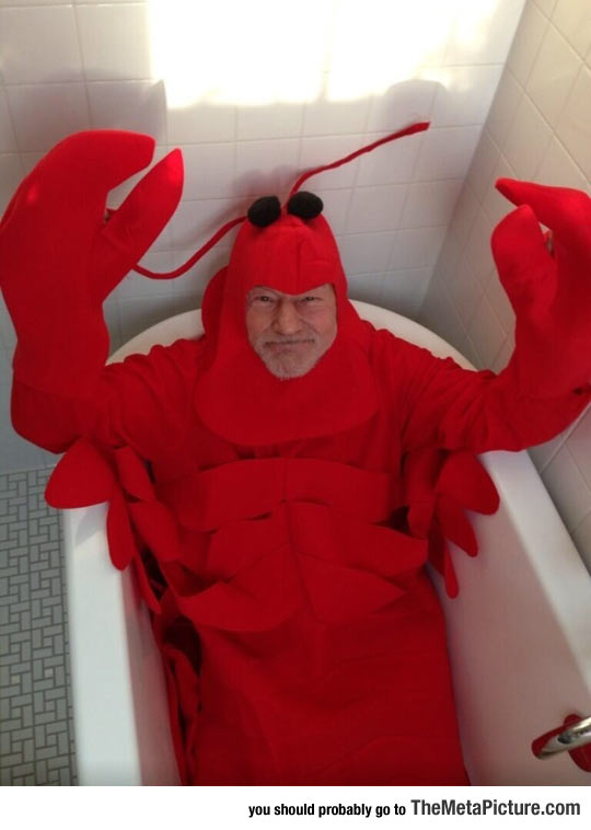 cool-Patrick-Stewart-lobster-costume-Halloween