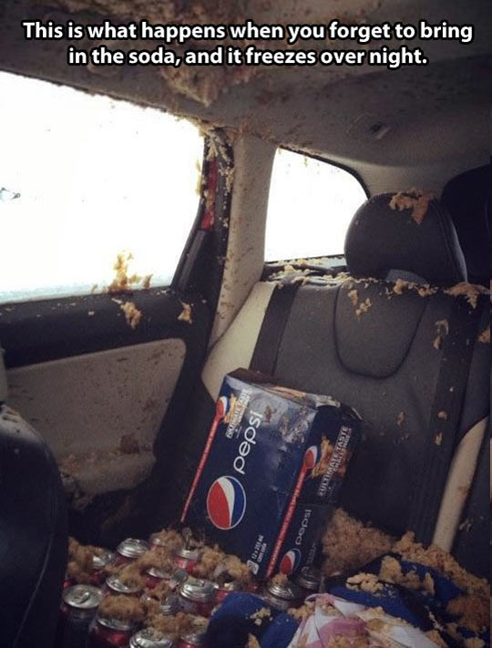 cool-Pepsi-soda-freezes-car