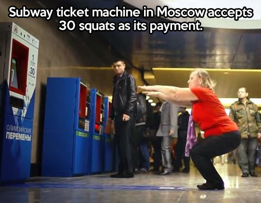 cool-Subway-ticket-woman-squats