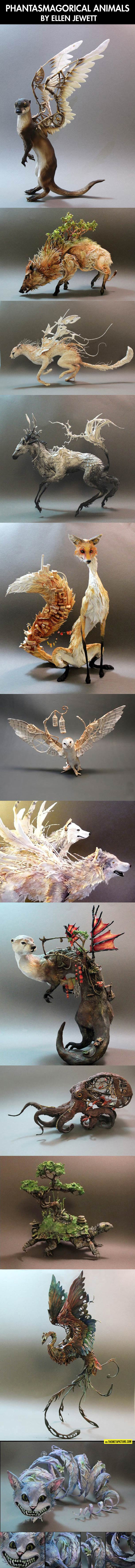 cool-animals-wing-steampunk-sculpture