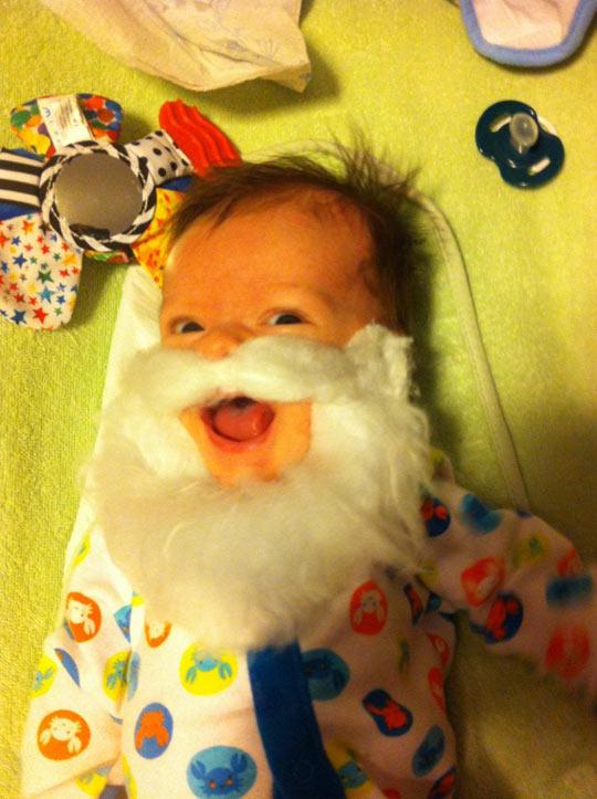 My 2 Month Old Son Really Likes Santa