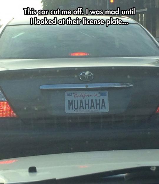Evil License Plate
