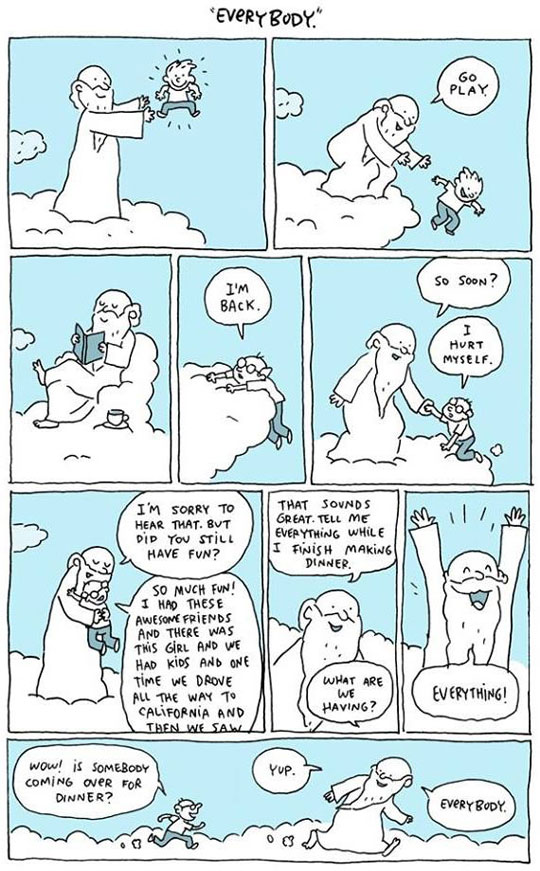 cool-cartoon-comic-God-everybody-heaven