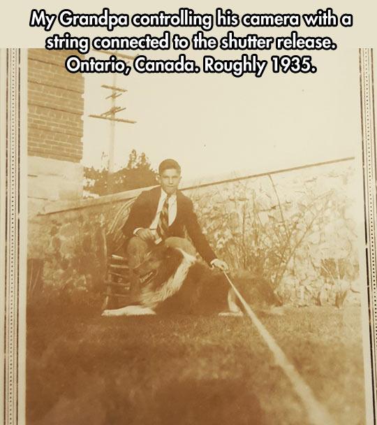 My Grandpa Taking A Selfie In 1935