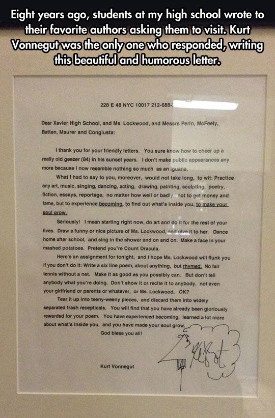 cool-letter-Kurt-Vonnegut-sign-frame