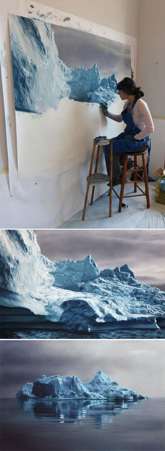 Realistic Icebergs By Zaria Forman