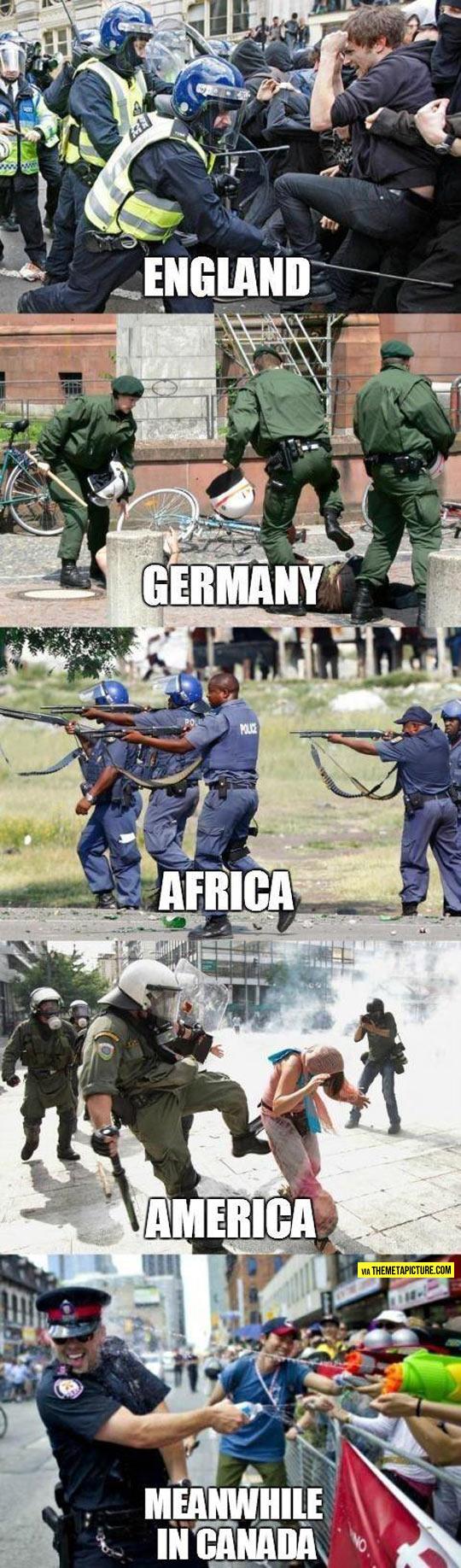 Police Behavior Across The World