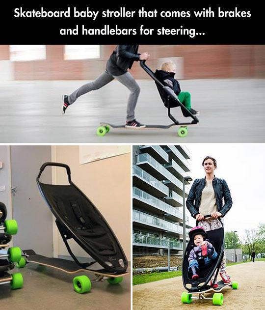 cool-skater-baby-mother-stroller