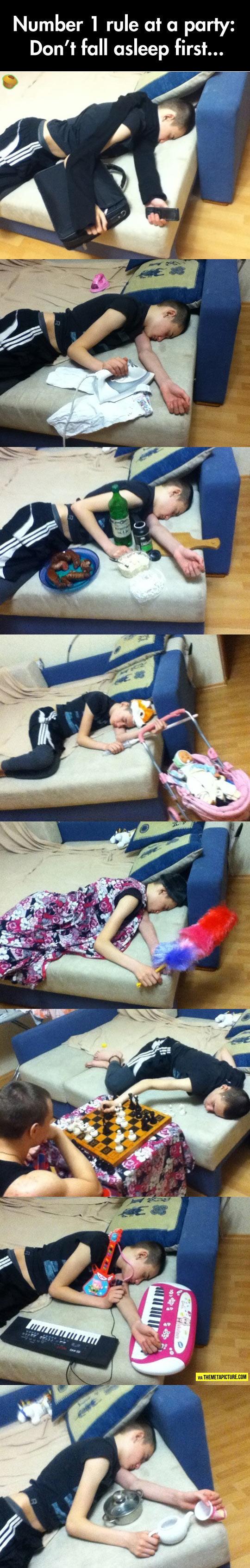 Never Fall Asleep First