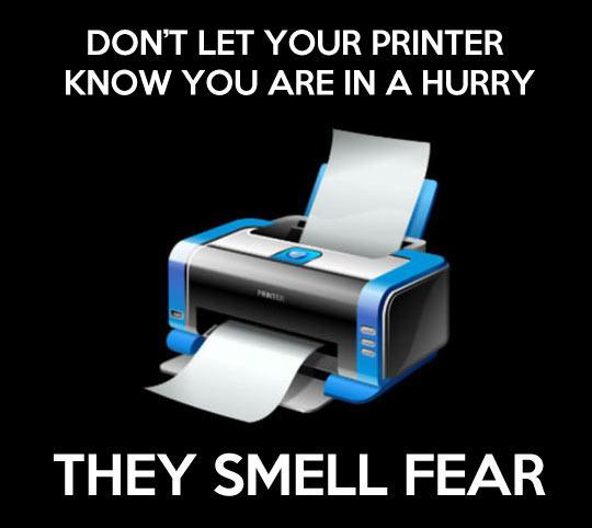 Printers Work In Mysterious Ways