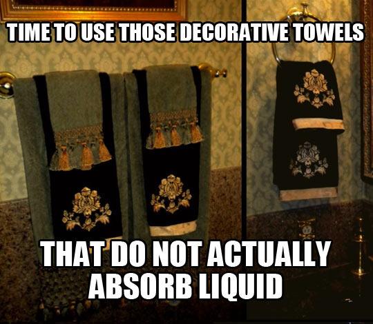 Those Decorative Towels