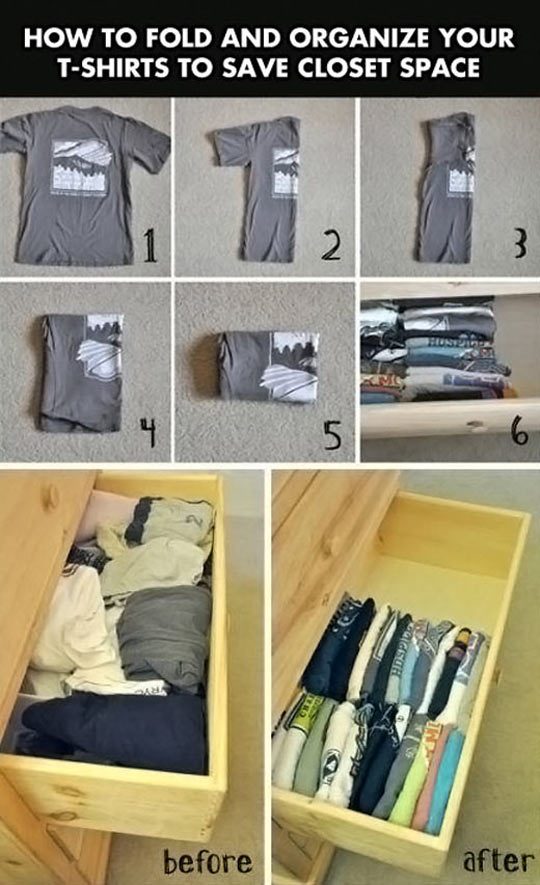 Clever Life Hack To Save Space In Your Closet
