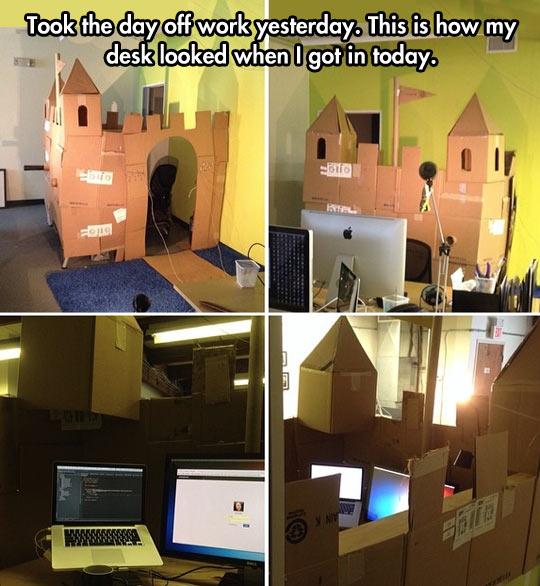 cool-work-prank-desk-castle