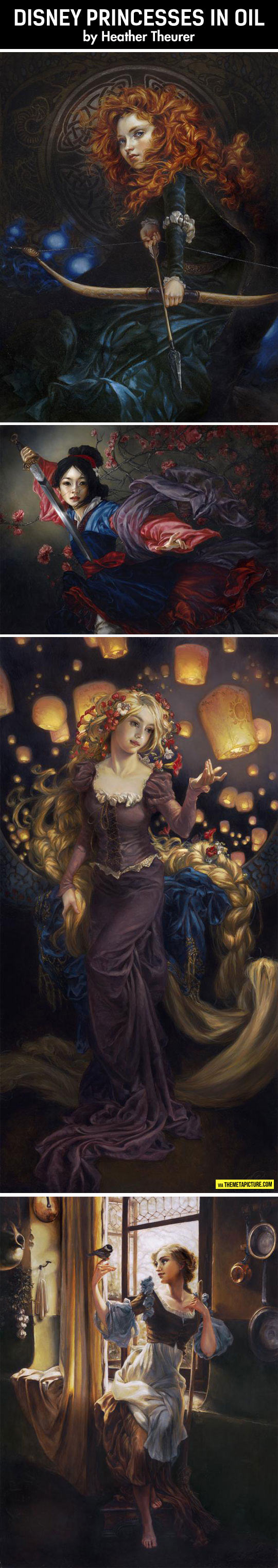 cute-Disney-princesses-oil-paintings