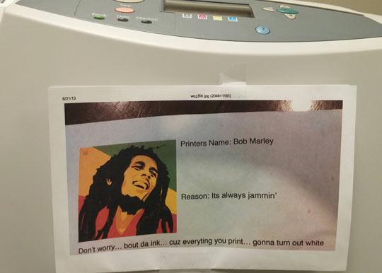Bob Marley The Printer