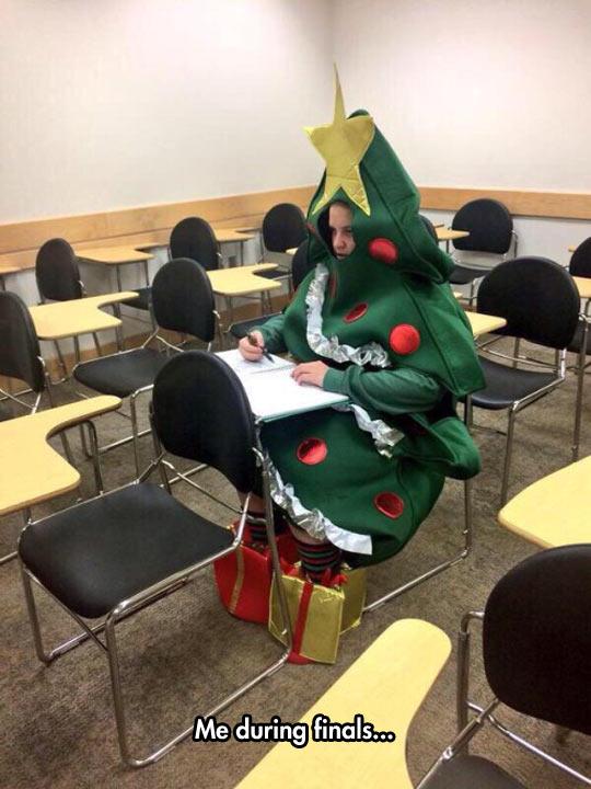 funny-Christmas-tree-costume-girl