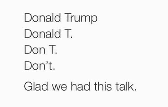 The Donald Trump Talk
