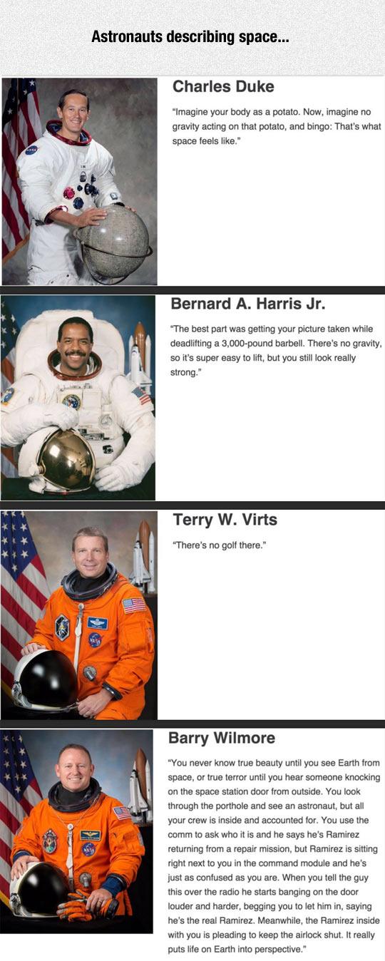 Astronauts Describe Their Space Experiences