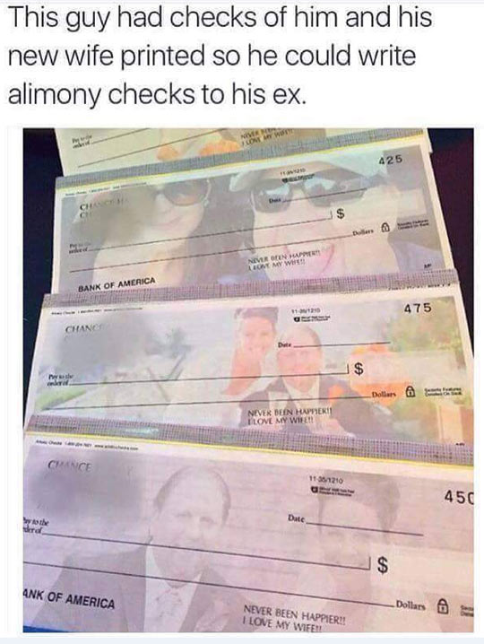 Alimony Checks