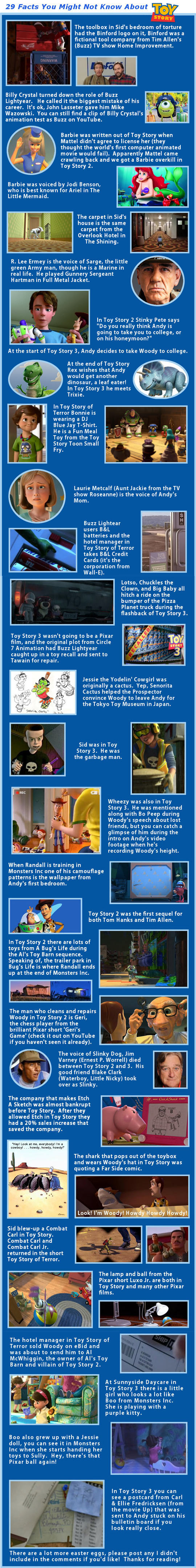 Facts About Toy Story You Probably Don
