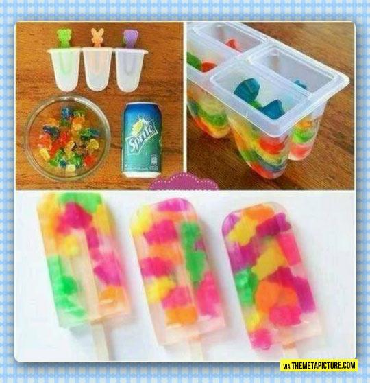 funny-gummy-bears-Sprite-Popsicle