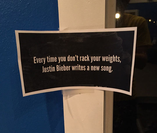 New Sign At My Gym