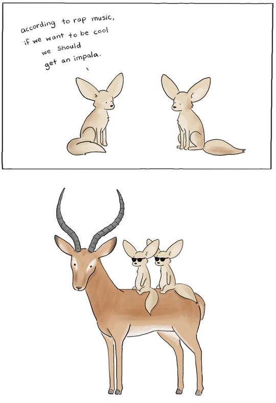 funny-impala-drawing-clipart-comic