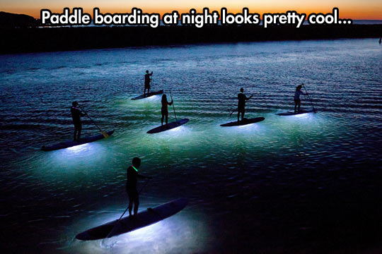 Paddle Boarding After The Sun Goes Down