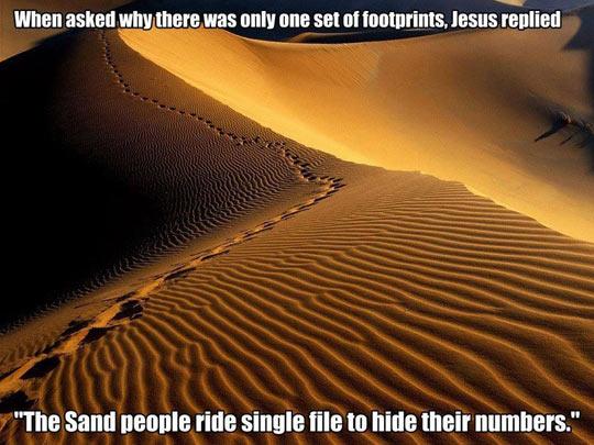 One Set Of Footprints